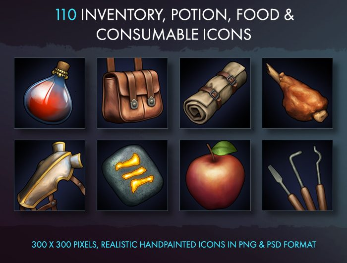 Inventory Potion Food And Consumable Icons