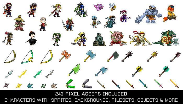 Ninja Pixelart Game Kit