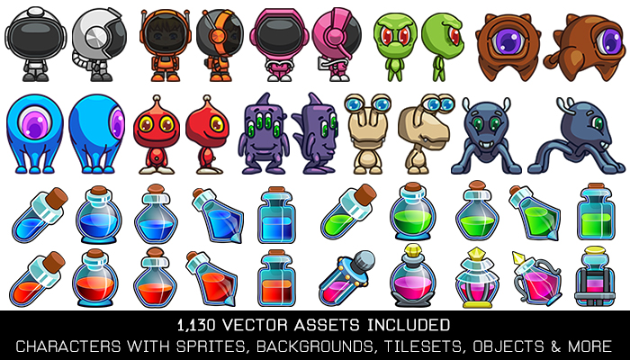 Outer Space Vector Game Kit