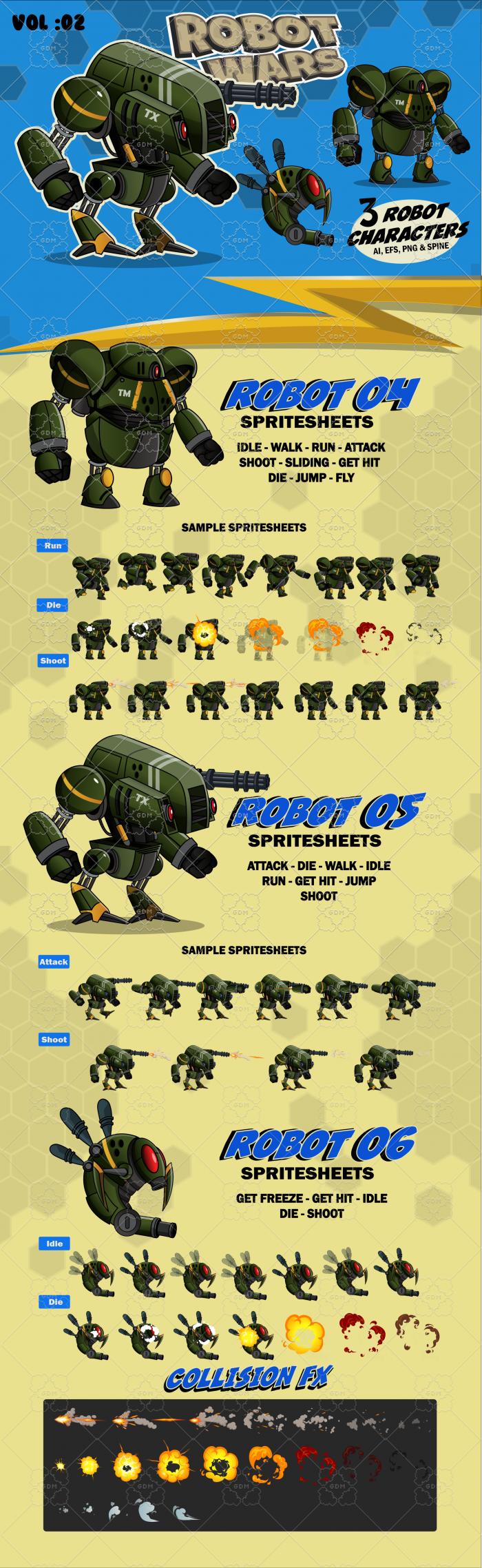 Robot Wars Character Sprite Vol: 02