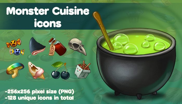 Monster Cuisine icons