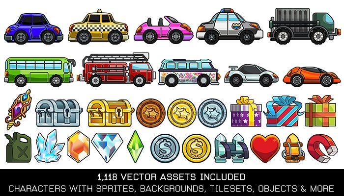 Vehicle Turbo Vector Game Kit