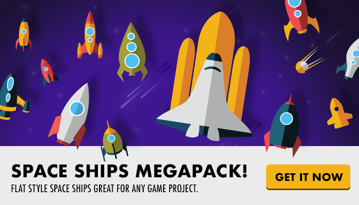 2D Game SPACESHIPS megapack – SpaceFleet GAME ASSETS