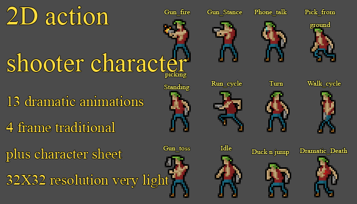 2d Action Character