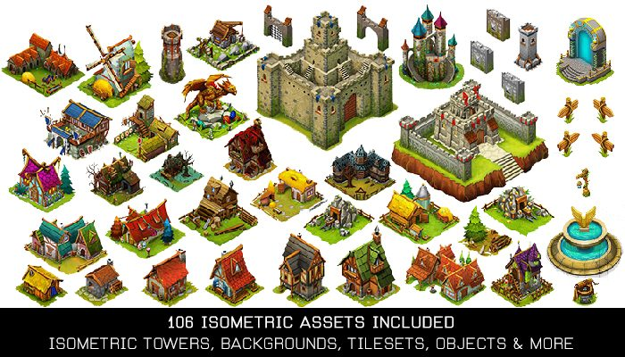 Isometric World – Complete Game Assets Pack