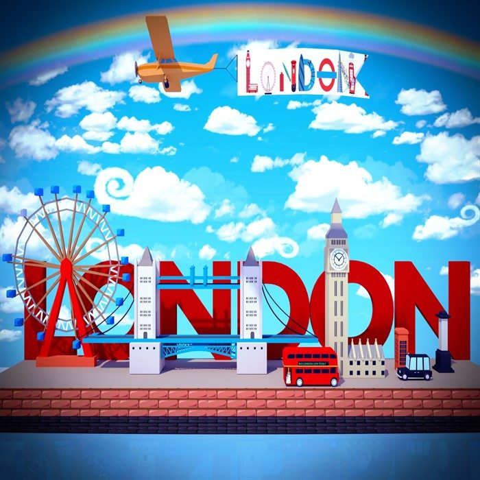 low poly london