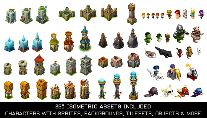 Isometric Tower Defense – Complete Game Assets Pack