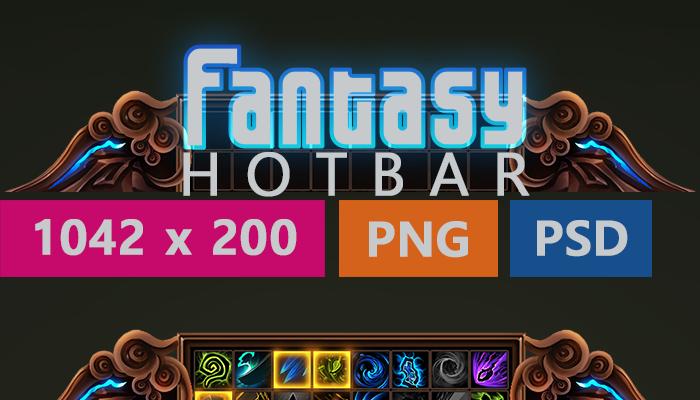 Customizable Fantasy Hotbar Pack