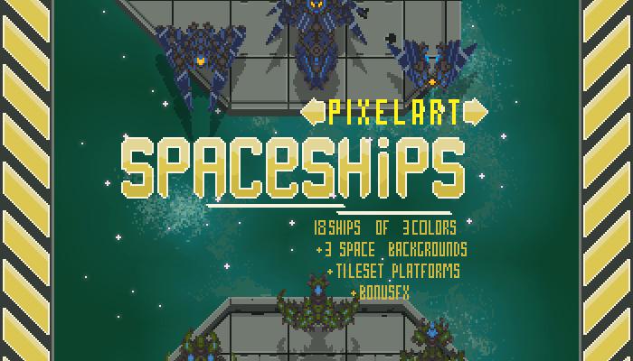 Pixel art Spaceships