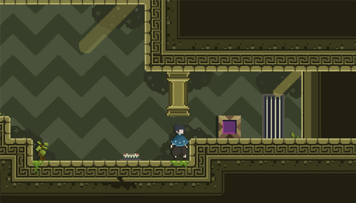Pixel Platform Game Assets [Background , UI and Character]