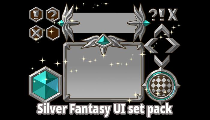 Silver Fantasy UI Set Pack