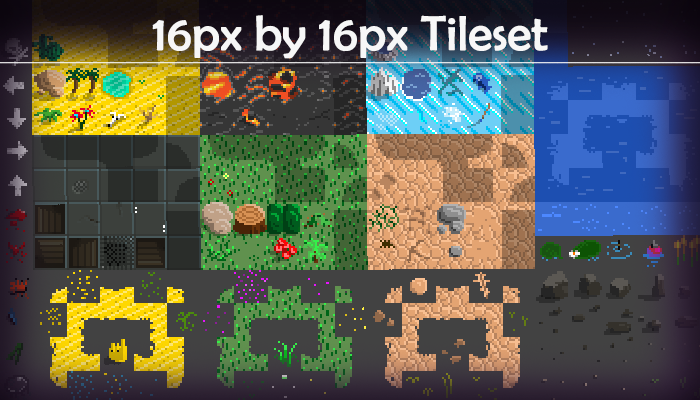 Tile Set 16pixel by 16pixels