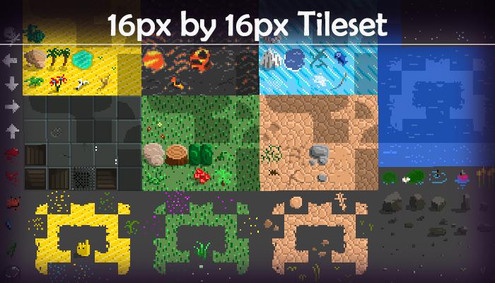 Tile Set 16pixel by 16pixels