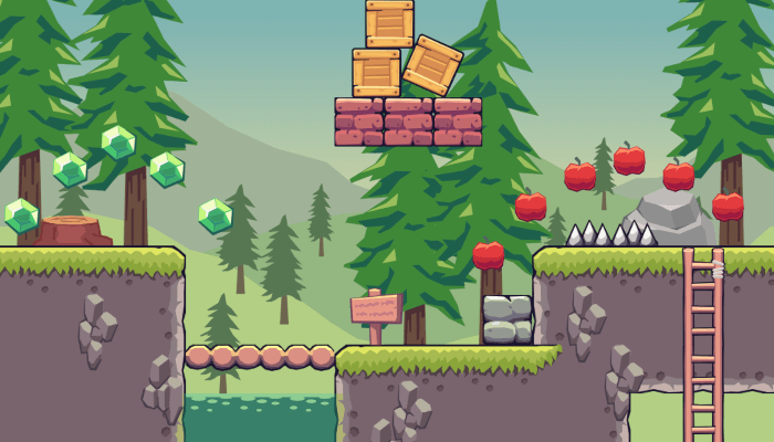 2D Seamless Tileset – Pine Hill Area
