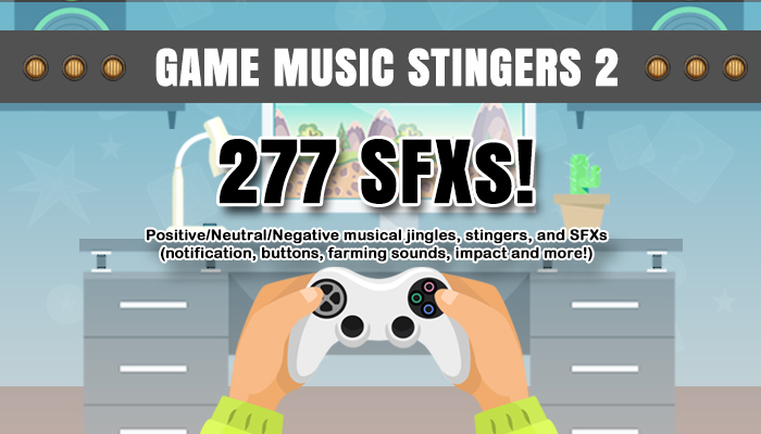 Game Music Stingers and UI SFX Pack 2