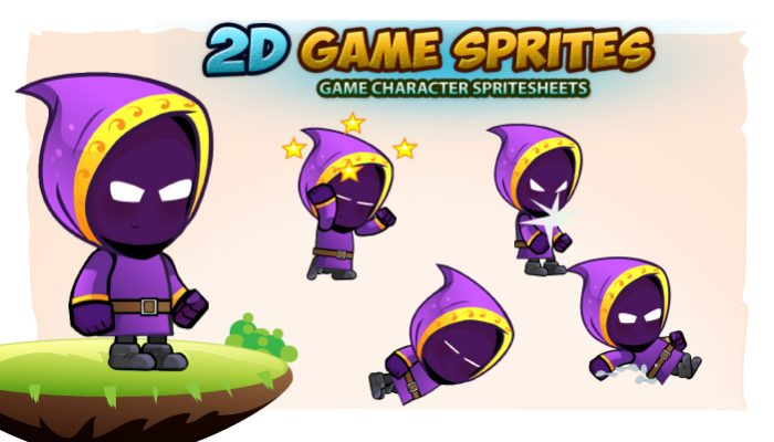 Mage Game Character Sprites