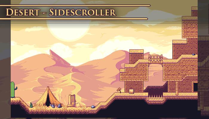 Desert – SideScroller Tileset
