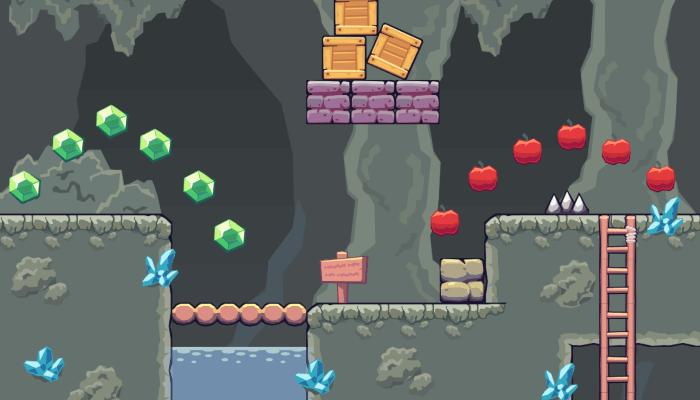 2D Seamless Tileset – Rocky Cave Area