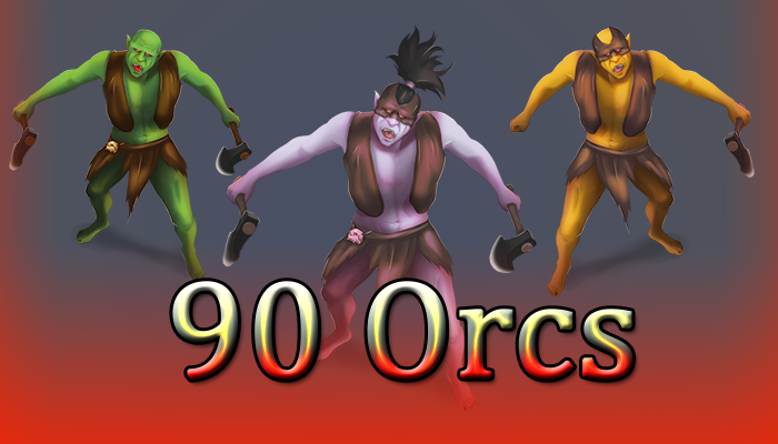 90 2D Orcs