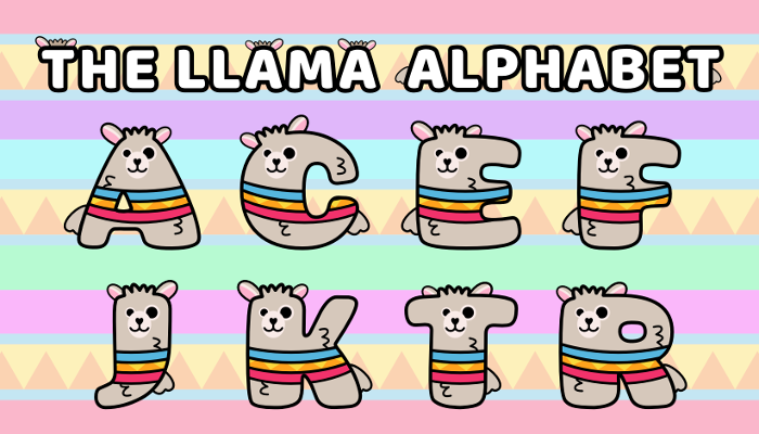 Assets For Children´s Games – The Llama Alphabet (ENG-SPAN.)