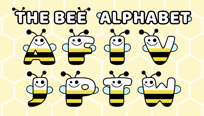 Assets For Children´s Games – The Bee Alphabet (ENG-SPAN.)