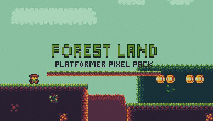Forest Land – Platformer Pixel Pack