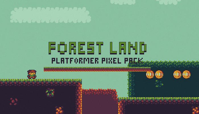 Forest Land – Platformer Pixel Pack