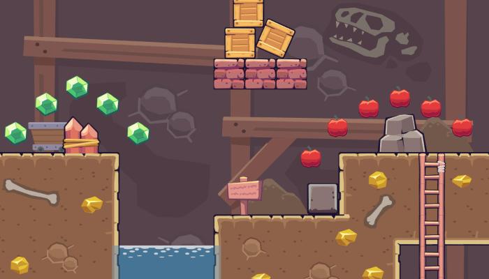 2D Seamless Tileset – Mine Area