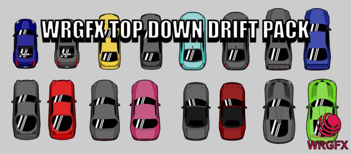 Top Down Car Drift Pack WRGFX