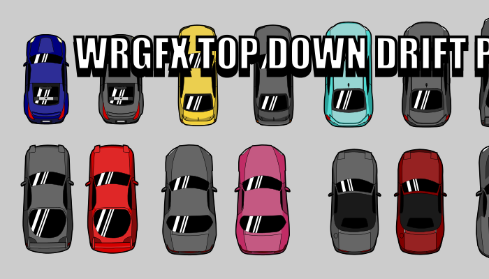 Top Down Car Drift Pack WRGFX