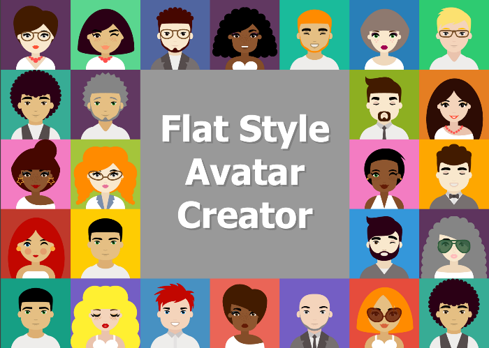 Flat Male and Female Avatar Creation Kit
