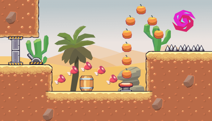 2D Seamless Tileset – Desert Area