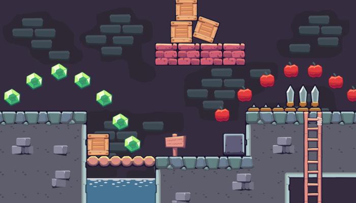 2D Seamless Tileset – Dungeon Area