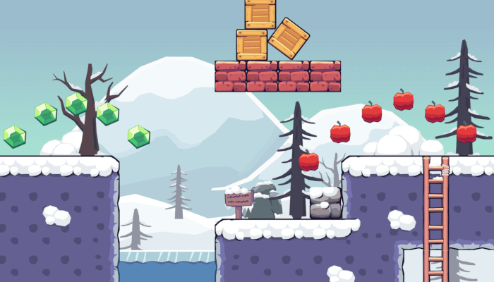 2D Seamless Tileset – Snow Area