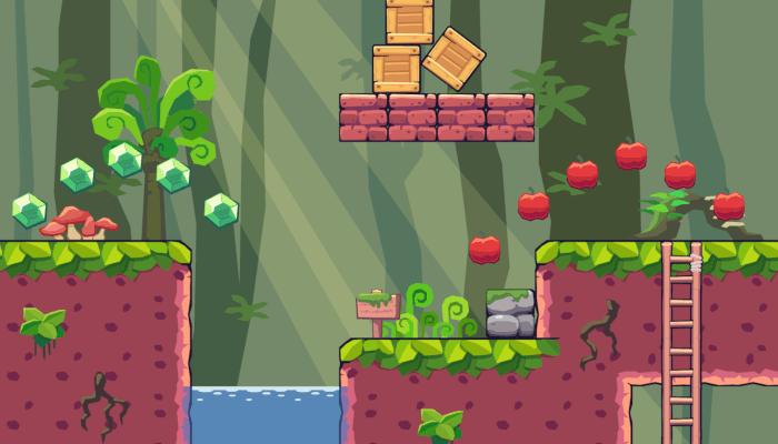 2D Seamless Tileset – Forest Area