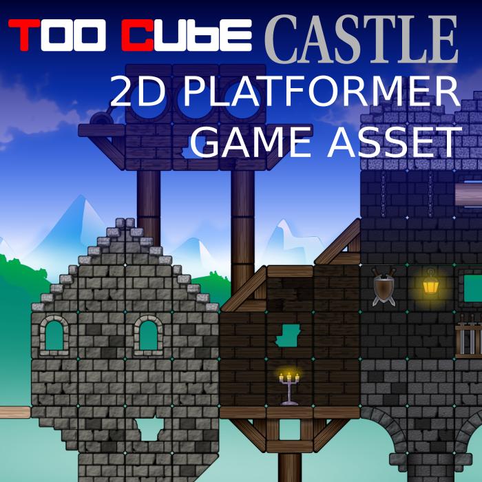 TooCubeCastle, the 2D platformer tileset