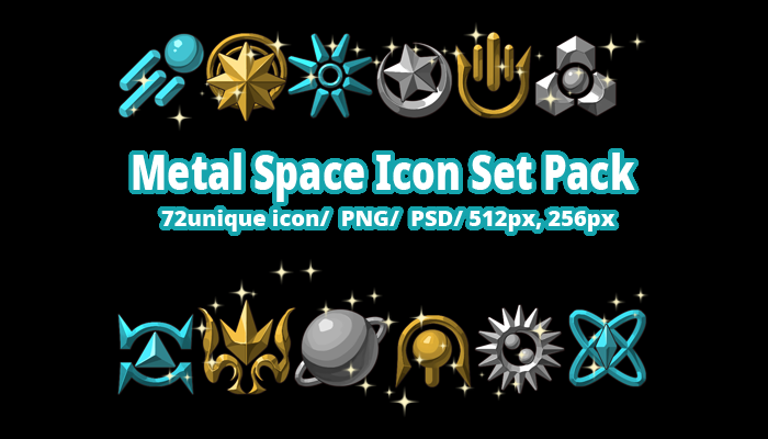 Metal Space Icon Set Pack
