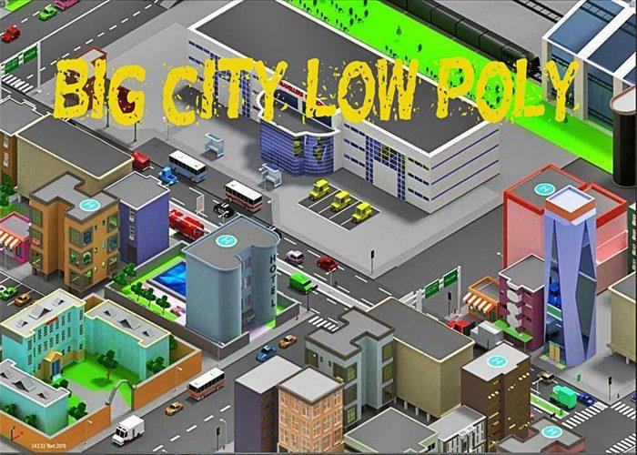 low poly city