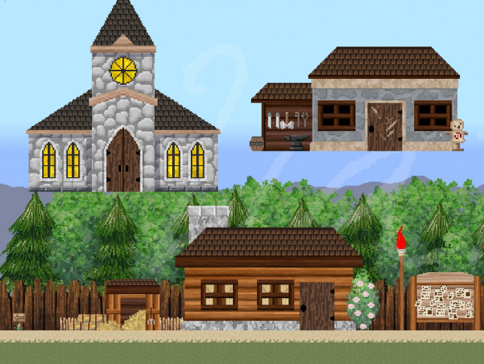 Fantasy Pixel Exteriors BG