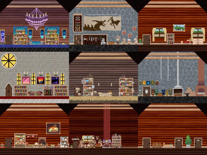 Fantasy Pixel Interiors BG