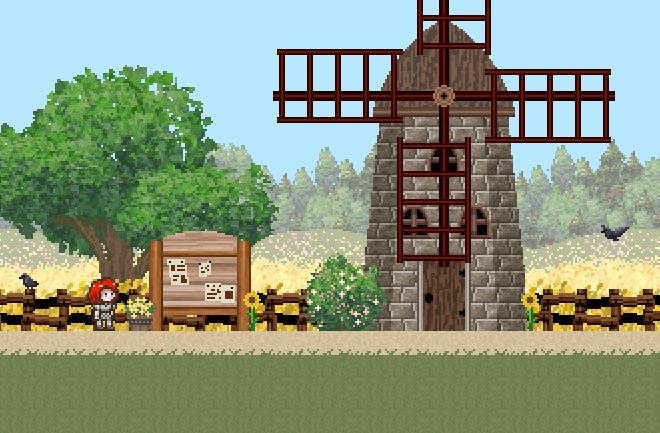 Fantasy Pixel Farmland BG