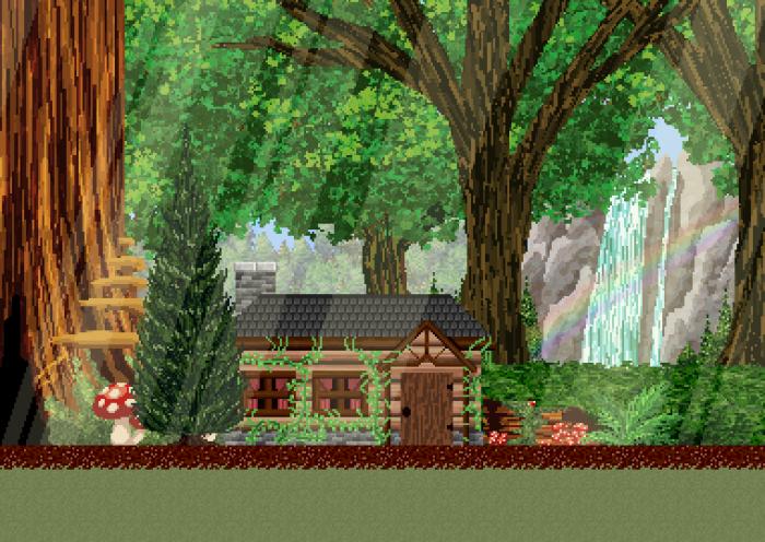 Fantasy Pixel Forest BG