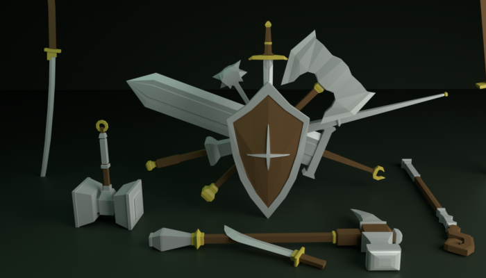 3D Low Poly Weapon Asset