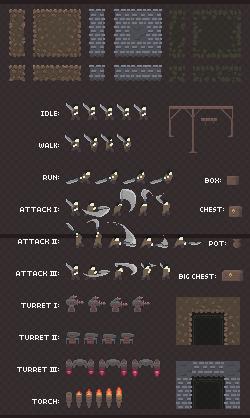 2D Platformer Dungeon Pixel Art Asset