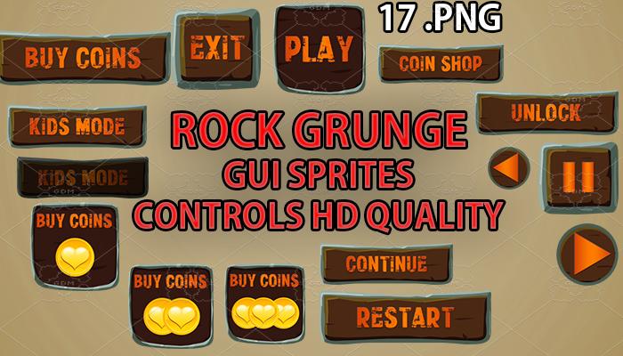 rock grunge GUI hd quality 17 .png files
