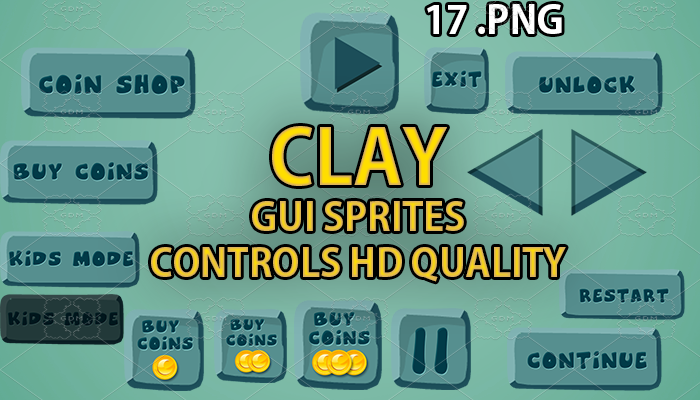 STONE GUI hd quality 17 .png files