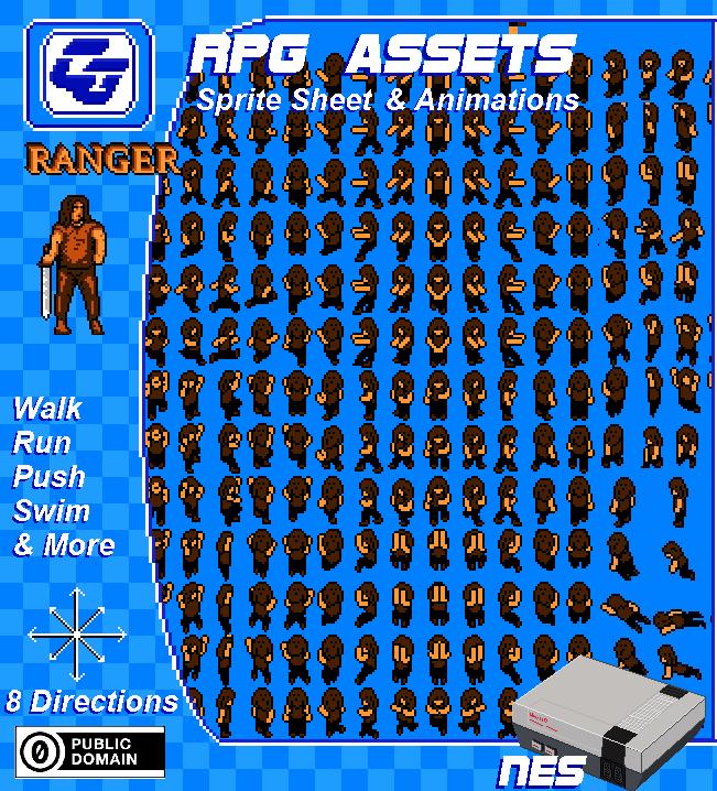 RPG Asset Character 'Ranger' (NES)