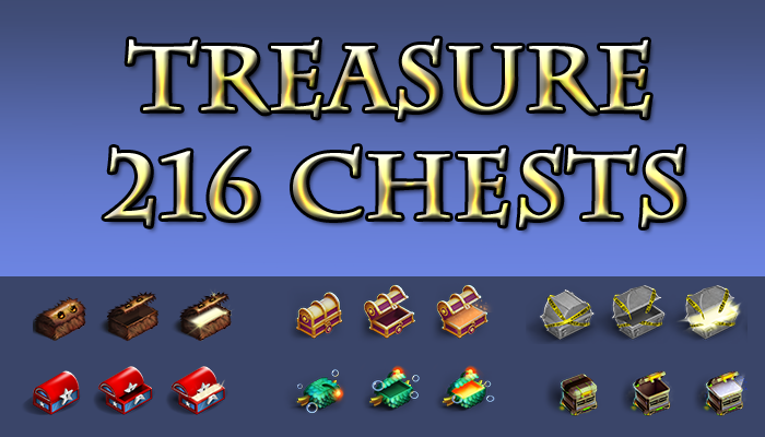 216 Isometric Treasure Chests