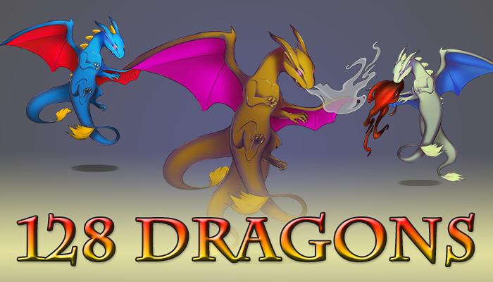 128 2D Dragons