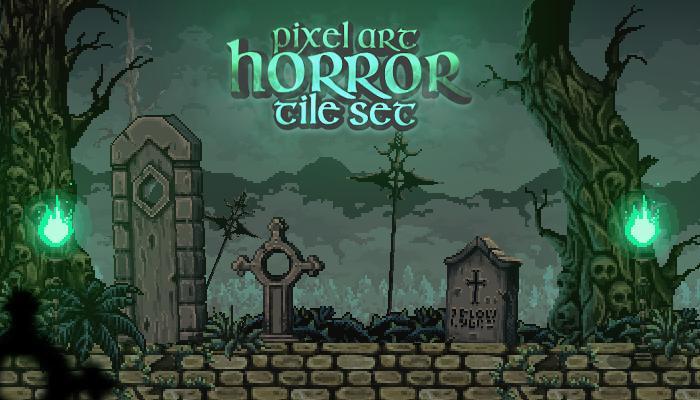 Pixel Art Horror Set